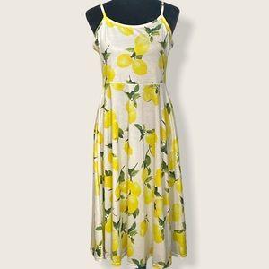 Cute Lemons sundress sz L adjustable straps